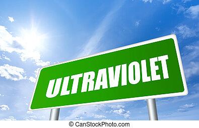 figyelmeztetés, ultraviola, aláír