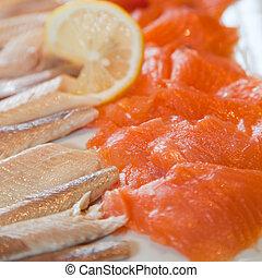 filék, fish, füstölt lazac, büfé