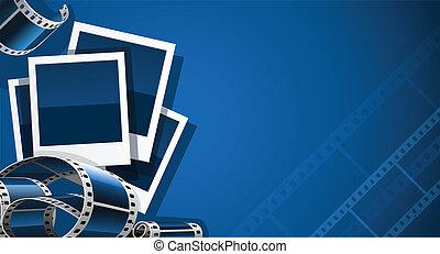 film, állhatatos, video, film, fénykép