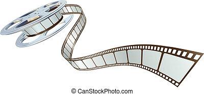 film, spooling, cséve, film, ki