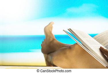 filtered:, szüret, könyv, tengerpart, felolvasás