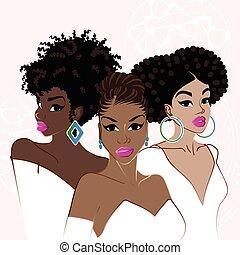 finom, dark-skinned, 3 women