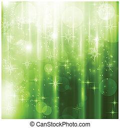 finom, szikrázó, állati tüdő, zöld, karácsonyi üdvözlőlap
