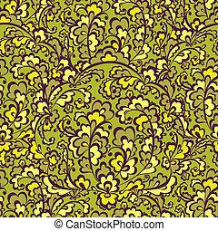 finom, vegetative, pattern., zöld, seamless