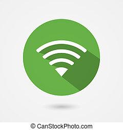 fior, wifi, ikon, szabad, összeköttetés, lakás