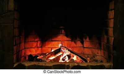 fireplace., flame., égető