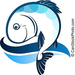 fish, árnykép, lenget