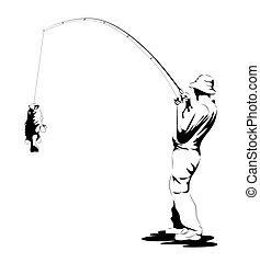 fish, fertőző, halász