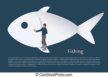 fish, vektor, halász, háttér, ikon