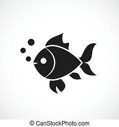 fish, vektor, ikon