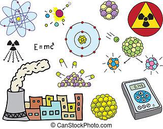 fizika, energia, -, atom-, nukleáris