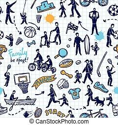 fizikai, motívum, seamless, elfoglaltság