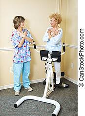 fizikai therapist, gerinc kezelése, türelmes