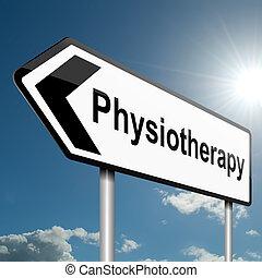fizikoterápia, concept.