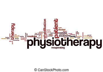 fizikoterápia, szó, felhő