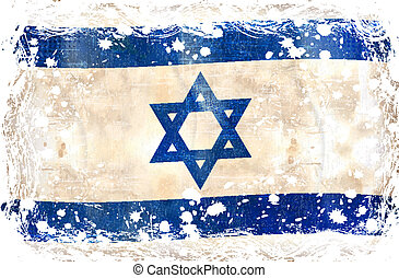 flag-, grunge, izrael