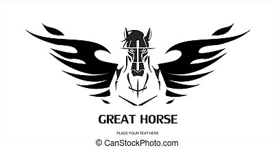flamimg, nagy, horse.eps