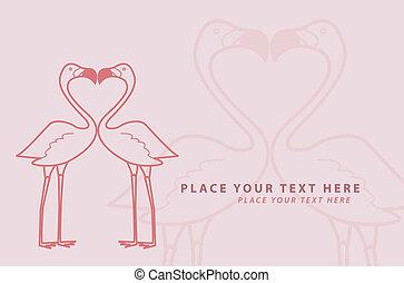 flamingó, csókol