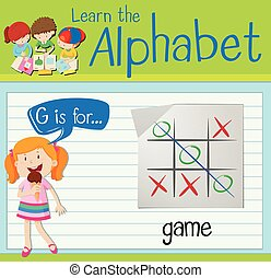flashcard, játék, levél g