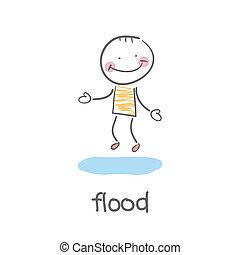 flood., illustration.