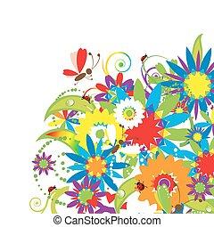 floral bouquet, ábra, nyár