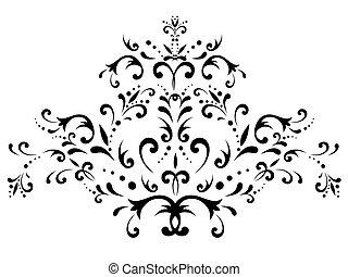 floral dekoráció, elvont