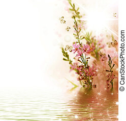 floral határ, gyönyörű