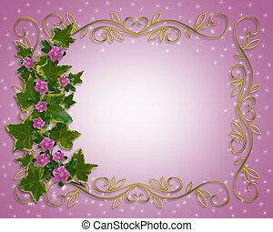 floral határ, repkény, elem