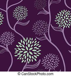 floral példa, bíbor, zöld