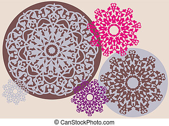 floral példa, kaleidoszkopikus