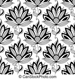 floral példa, paisley, seamless