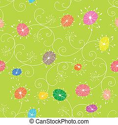floral példa, seamless, színes