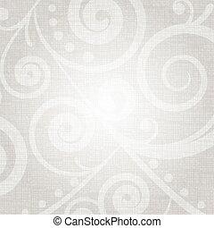 floral példa, vektor, ezüst, struktúra