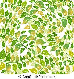 floral példa, white-green, seamless