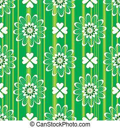 floral példa, zöld, seamless, (vector)
