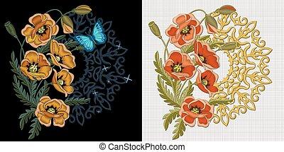 floral tervezés, kézimunka