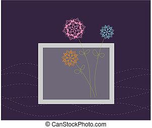 floral tervezés, köszönés kártya