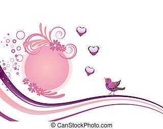 floral tervezés, madarak