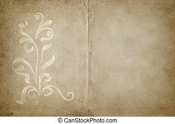 floral tervezés, pergament