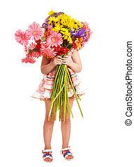 flowers., kitart gyermekek