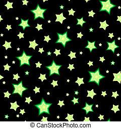 fluoreszkáló, bacgkround, seamless, csillaggal díszít, karikatúra