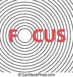 focus-, vektor, ábra, fogalom