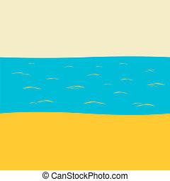fodrozódik, ég, homokos, védőszemüveg, nap, merülés, henyélő, tengerpart, fehér, tengerpart