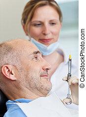 fogász, belövellő, érzéstelenítés