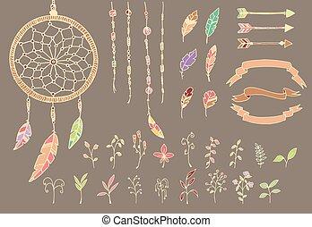 fogójátékos, horgol, nyílvesszö, kéz, amerikai, bennszülött, húzott, menstruáció, álmodik, rózsafüzér