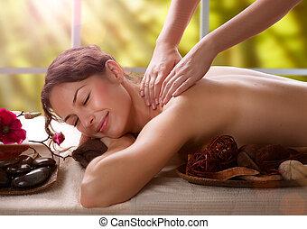 fogadószoba, massage., ásványvízforrás