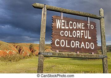 fogadtatás, colorado, aláír