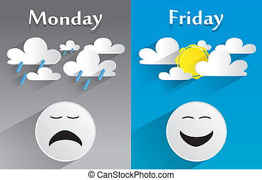 fogalmi, érzés, hétfő, péntek