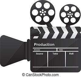 fogalmi, fényképezőgép film, mozi