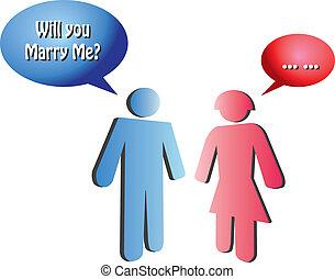fogalmi, javaslat, vektor, házasság, ábra